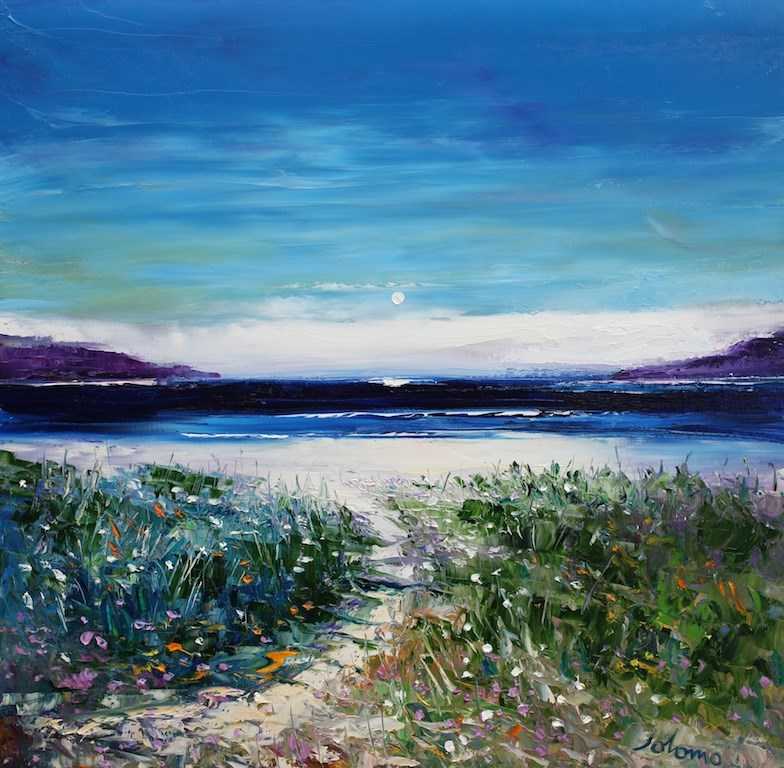 Eveninglight Calgary Beach Isle of Mull by John Lowrie Morrison -  sized 20x20 inches. Available from Whitewall Galleries